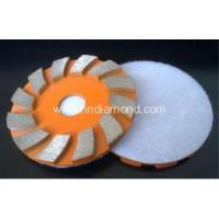 China Flat Diamond Grinding Disc for Concrete with Hook and Loop on sale