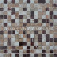 China Best gold line glass mosaic tiles Kitchen glass tiles bathroo... wholesale
