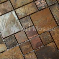 China China Bronze copper mosaic tiles metal kitchen tiles A6YB127 on sale