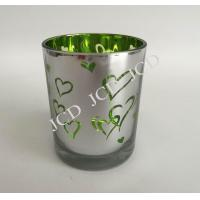China Simply style sliver electroplating glass candleholder wholesale
