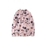 China Ladies' Flower-printing Tie-collar Long-sleeve Draping Chiffon Blouse wholesale