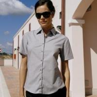 China Uneek Ladies Pinpoint Oxford Shirt (short sleeve) on sale