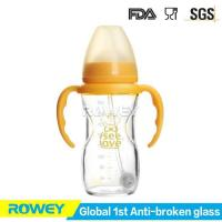 Tempered Glass Baby Bottles 240ml with Teat | BPA Free Baby Tempered Glass Bottle