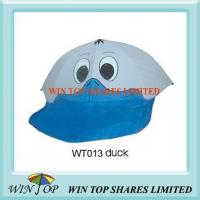 Grey and Blue Duck Pattern Cartoon Umbrella