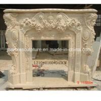Statue Surface Carved Marble Fireplace Surround Flowers (SY-MF196)