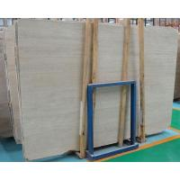 China Chinese natural hoar beige travertine slab cut to size wholesale