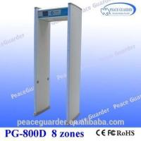 China High sensitivity 8zone arch metal detector gate for gun /bomb checking in KTV, club PG800D wholesale