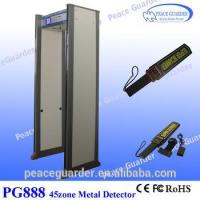 China Enhanced 45zone walk through metal detector gate for gold factory with directional counter PG888 wholesale