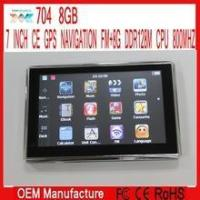 China 7 inch Gps navigation navigator Windows ce 6.0 FM ROM 8GB DDR128M wholesale
