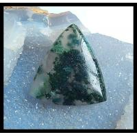 Natural Gemstone Moss Agate Cabochon-47x40x9mm,21.1g
