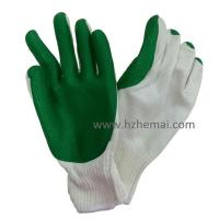 China HCL435 10 gauge Rubber coated work glove wholesale