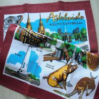 China Full Color Over Printed Souvenir Tea Towel OEM Welcomed Linen Cotton Material KL-015 wholesale