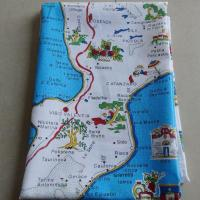 China Calabria Map Printed Souvenir Tea Towel for Gifts Hot Sale KL-S035 wholesale