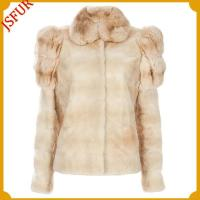 Buy cheap Fur jackets Rex rabbit fur jacket with rabbit fur shoulder trim from wholesalers