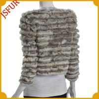 Buy cheap Fur jackets cashmere jacket with Horizontal rabbit fur from wholesalers