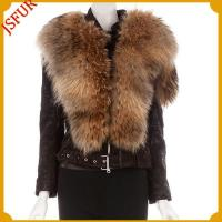 Buy cheap Fur jackets Gold-brown dyed Raccoon dog fur jacket from wholesalers