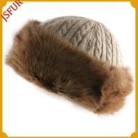 China Knitted rabbit fur hat/caps wholesale