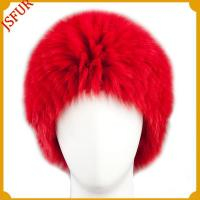 China Knitted fox barry fur hats wholesale
