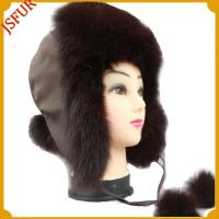 China Snow trapper hat made in fox fur wholesale