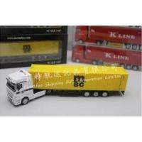 China 1:87 MSC Diecast Alloy Truck Model|Container Truck Model on sale