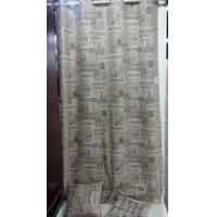 China Newspaper style Printed cotton curtain wholesale