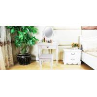 China White Dressing Table 3 Drawers on sale