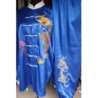 China Martial Arts Uniforms beautiful and blue kungfu uniform with d 2012717171747 wholesale