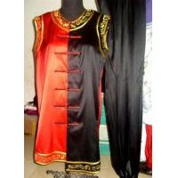 China Martial Arts Uniforms red and black sleeveless kungfu suit 2012718151046 wholesale