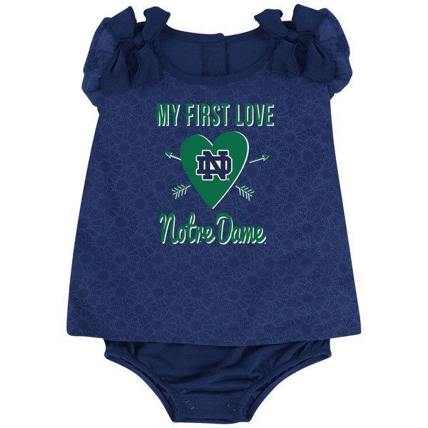"""Quality Notre Dame Newborn/Infant """"My First Love"""" Romper for sale"""