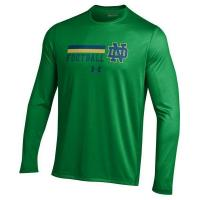"""China UNDER ARMOUR NOTRE DAME NEW FOR 2016 KELLY """"ON-FIELD"""" ND FOOTBALL PERFORMANCE LONG-SLEEVE T-SHIRT wholesale"""