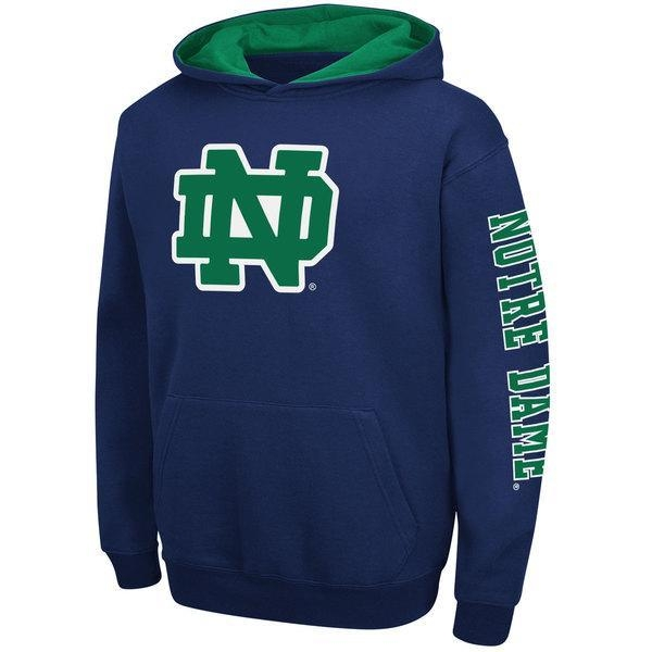 """Quality Notre Dame Youth Navy """"Zone"""" Pullover Hooded Sweatshirt for sale"""