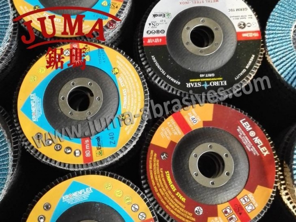 Quality China OEM 115*22mm,Grit40 Ceramic Coated Abrasive Flap Disc factory for Angle Grinder Machine for sale