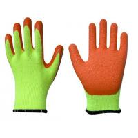 China L1201 10G Yellow T/C Shell,Orange Latex Palm Crinkle Coated Work Gloves wholesale