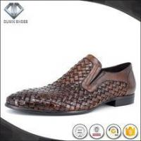 China 2017 Italy woven leather men slip-on dress shoes on sale