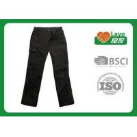China Brown Zip Off Pants For Men , Long Quick Dry Zip Off Pants Fashion Design wholesale