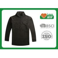 China Casual Sports Mens Black Fleece Jacket With ISO9001 Certificate wholesale