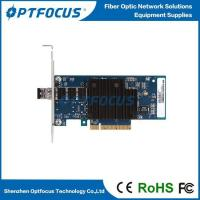 China 10Gbps Optical Network Adapter Card Single Port SFP+ Slot LC Fiber 0-120KM wholesale