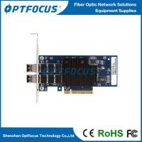 China INTEL 82599 Chipset .PCI Express 2*10G SFP+ Fiber Optical 10G Ethernet Network Server Adapter Card wholesale