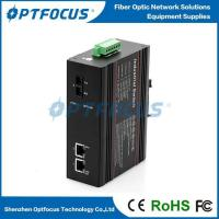 China Unmanged Industrial Switch 10/100M 2 Port Dual Fiber SM 10KM-120KM Guide Rail Type on sale