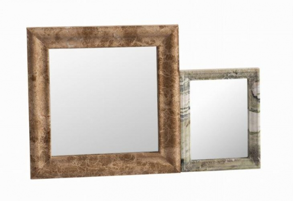 Wall art modern images for Stone framed bathroom mirrors