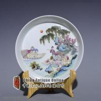 China Qing Yongzheng fomille colors landscapes & figures portraited dish wholesale