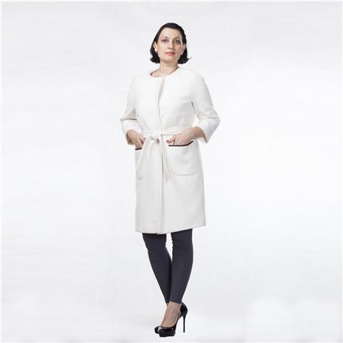 Quality Sexy Loose White Color Jacket Fair Lady Breathable Spring Autumn Women Cashmere Coat for sale