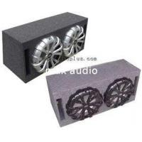 China ABS Plastic Grill Dual Car Subwoofer Enclosure 18mm MDF Enclosure on sale