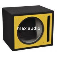 China Colorful Painting Professional Subwoofer Box , Subwoofer Enclosure Box With Long Lead Wire on sale