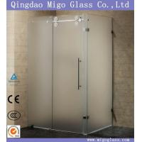 China Shower Screen/Door/Enclosure/Room/ Frosted/Acid Etched/Sandblast/Tempered/Toughened Glass on sale