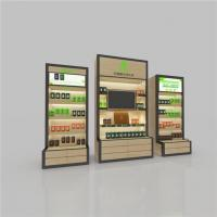 China Health Products Wooden Metal Luminous Display Cabinet with Lightbox Poster,furniture Shelves wholesale