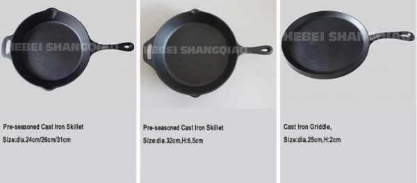 Quality Cast Iron Skillet&Grill pan for sale