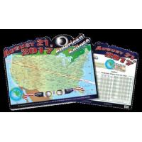 China American Eclipse Map (Poster) wholesale