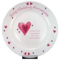 China Anniversary Gifts Ruby Anniversary Plate on sale