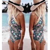 China 2017 One-piece 2017 Women Sexy Fashion Print One Piece wholesale